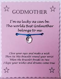 godmother gift godmother wish bracelet charm bracelet