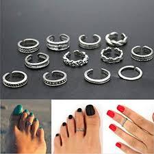 toe finger rings images Ids 12 pcs toe ring sets mix celebrity fashion simple jpg