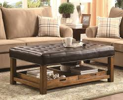 leather tray top ottoman coffee tables amazing round ottoman coffee table square leather