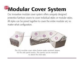 treasure garden protective patio furniture cover cp405 modular