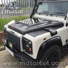 land rover defender 2017 black masai sport scooped bonnet with grill for land rover defender grp