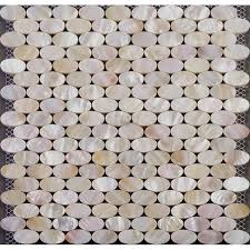 Shell Mosaic Wall Tiles For Kitchen Backsplash Iridescent Mother - Seashell backsplash