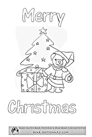 merry christmas bears coloring sheet toby u0027s bear christmas