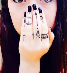 tribal finger tattoos pictures to pin on pinterest tattooskid