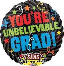 singing balloon grad singing balloon