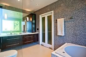 modern master bathroom with double sink by claudia morales