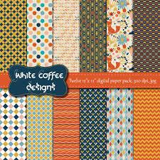 woodland scrapbook paper geometric patterns woodland theme