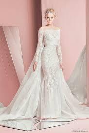 Wedding Dresses With Sleeves Uk Zuhair Murad Bridal Spring 2016 Wedding Dresses Deer Pearl Flowers