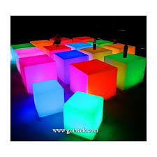 glowing color changing led cube light