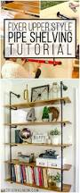 Pipe Shelves Kitchen by Diy Fixer Upper Pipe Shelving Tutorial Farmhouse Office Pipe