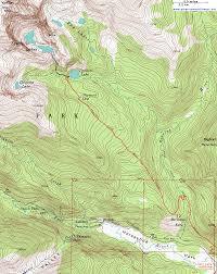 Colorado Mountain Map by Topographic Map Of The Ypsilon Lake Trail Rocky Mountain National