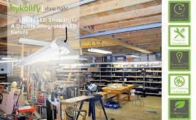 hykolity 4ft 40w led shop garage hanging light fixture 4800 lumens