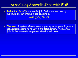 si e social d edf scheduling aperiodic and sporadic ppt