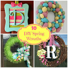 round up monday 10 diy spring wreaths fun home things