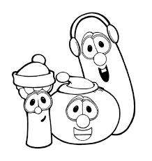 printable 34 veggie tales coloring pages 1861 larry boy coloring
