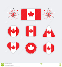 canada national flag wallpapers set design elements for the national day of canada stock vector