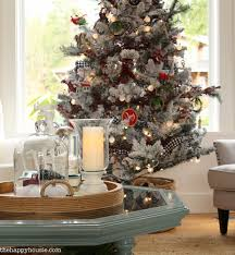 cabin chic winter woodland christmas tree style christmas living