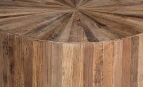 reclaimed wood round coffee table reclaimed wood coffee table transitional cyrano coffee table