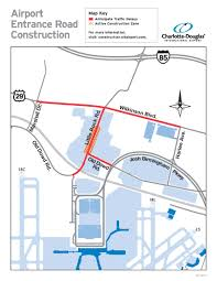 Map Of Charlotte Airport Expect Delays Near Airport Due To Construction
