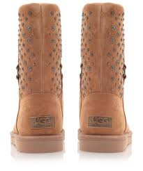 ugg womens eliott boots black ugg chestnut eliott studded sheepskin boots in brown lyst