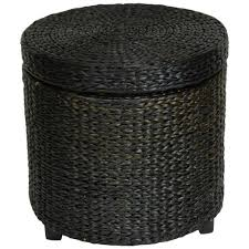 Gold Storage Ottoman by Black Storage Ottoman Fb Stool Blk The Home Depot