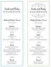 sle menu design templates wedding menu template