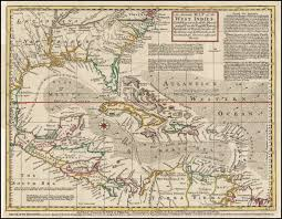 Map Of West Indies An Accurate Map Of The West Indies Exhibiting Not Only All The