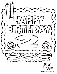 birthday coloring pages 2 coloring
