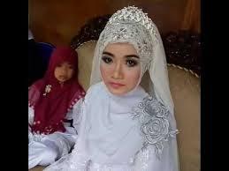 tutorial hijab syar i untuk pengantin rias ijab hijab syar i youtube