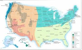 Us Zones For Gardening - regional climate zone planting map for the us tjs garden climate