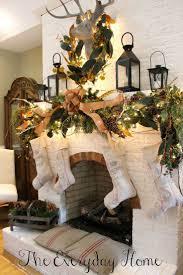 Deer Themed Home Decor Furniture Design Fireplace Christmas Decorations Ideas