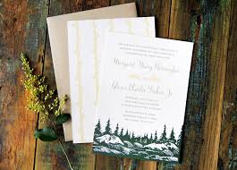 mountain wedding invitations mountain wedding invitation ideas inspiration