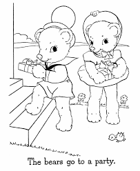 teddy bear templates kids coloring