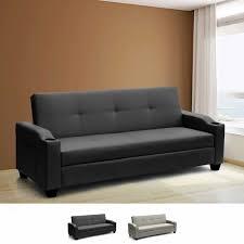 canapé convertible 2 places simili cuir canapé lit 2 places réclinable en simili cuir dossier avec