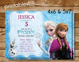 disney frozen invite etsy