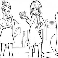 vanessa barbie thumbelina coloring pages