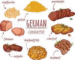 cuisine allemagne cuisine allemande collection de plats délicieux cliparts