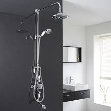 Bathroom Shower Systems Traditional Thermostatic Shower System With Grand Riser Tub