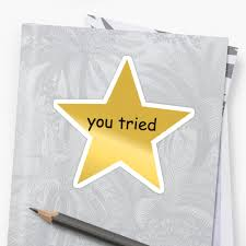 You Tried Meme - you tried gold star meme stickers by luceandmool redbubble