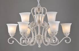 Chandelier Cover Best 9 Light White Metal Antique Chandeliers With Glass L