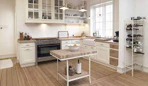 simple small country kitchen decor with all white interior color