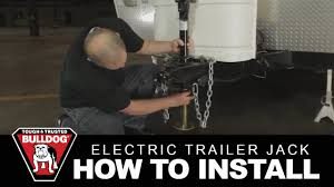 how to install a bulldog electric trailer jack youtube