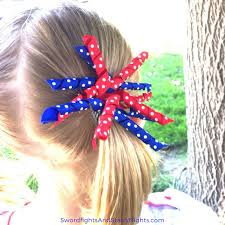 fourth of july hair bows curly patriotic hair bow easy to make and enjoy white