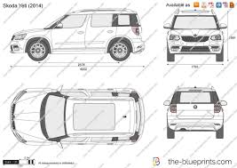 skoda yeti 2014 the blueprints com vector drawing skoda yeti