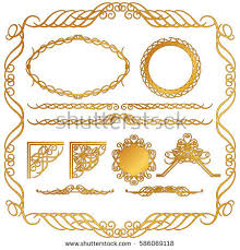 classical vector ornamentsdecorative ruled lineillustrator
