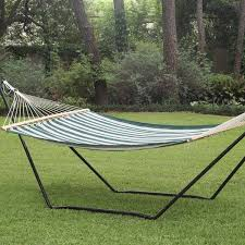 Free Standing Hammock Walmart by Green Tri Beam Steel Metal Hammock Stand On Sale L Stgtx And