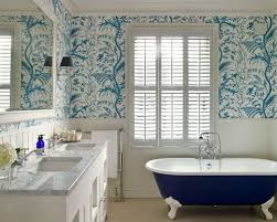 wallpaper designs for bathroom bathroom wallpaper houzz