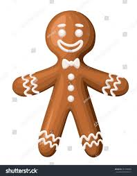 christmas gingerbread man cookie isolated on stock vector