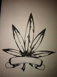 tribal marijuana leaf by cuba12 tattooed marijuana tribal