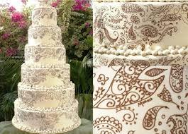 henna paisley wedding cake by elinor wedding stuff for brit